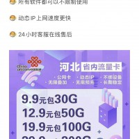 河北省19.9-100G流量卡